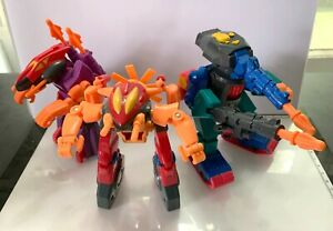 Toy Biz The Bots Master Chopperbot Skyfighter and Tankbot action figures used