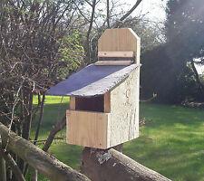Scatola Di Nidificazione con lift-up Easy-Clean naturale ardesia tetto per Robins
