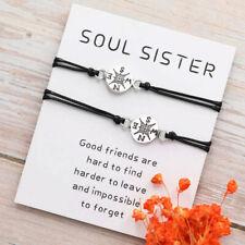 Best Friend Gifts for Her Friendship Compass Bracelet for Him Couples Bracelet