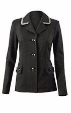 CAbi Crew Blazer Jacket S Small Dark Grey Button Coat Ladies #3030 M3