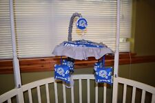 New Umbrella Crib Mobile Set Made/W Detroit Lions Fabric