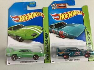 Hot wheels rare job lot bundle x 2 Plymouth Superbird + Dodge Daytona from 2013
