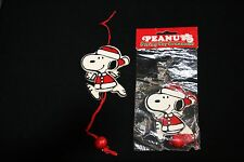 VINTAGE WOODEN SNOOPY SANTA PULL STRING JUMPER TOY ORNAMENTS  UNITED FEATURE SYN