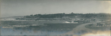 USA, Monterey (California)  Vintage silver print. Panoramic View. Vue panoramiqu