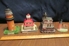 New Listing4 Lighthouses; Shadowbox, Mini Collectibles, knick knacks, 3 Lefton, 1 unknown