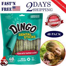Dingo Tartar Breath Dental Sticks for All Dogs Chicken Dental Dog Chew 48 count