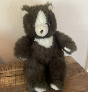 Vintage 1984 Teddy Bear Plush Brown Applause Wallace Berrie & Co. 14 in.