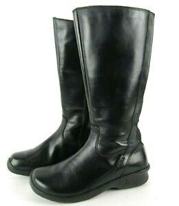 Keen Baby Bern II Tall Black Boots 8 W Wedge Heel Zip Leather