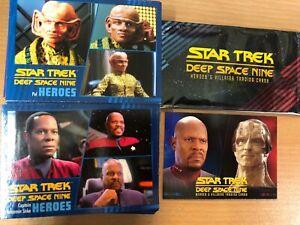 Star Trek Deep Space Nine Heroes & Villians Base Set 100 Cards + Promo Card P1