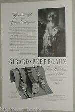 1946 Girard Perregaux Watch advertisement, mens & ladys wristwatches