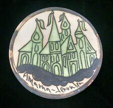 Vintage Amarna Jerusalem Pottery Ceramic Wall Plate