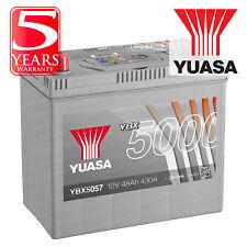 Yuasa YBX5057 Car Battery Calcium Silver Case SMF SOCI 12V 430CCA 48Ah T1/T3