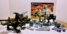 Mega bloks Knight and Wolf Green Dragon Mountain base plates incomplete