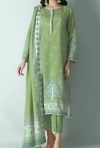 Khaadi ORIGINAL, Unstitched 3 Pc Printed Lawn Suit, Green