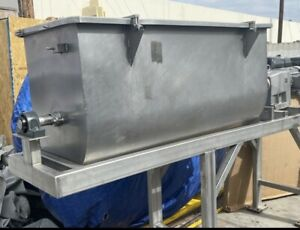 20CF Ribbon Blender, Stainless Steel mixer Tub Size 5ft Long By 2ft Wide  2 Ft