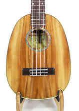 Alulu Solid Acacia Koa Grain Pineapple Shape Tenor Ukulele Hard Case HU939