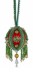 The Cracker Box Inc Christmas Ornament Kit Emerald Baby Boobie on Red