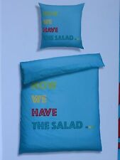 Renforcé-Bettwäsche Now we have the salad 135 x 200/80 x 80 cm Neu und OVP