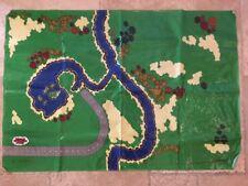 Thomas Train A Day At The Works Set Vinyl Playmat Mat Wooden 1998 Britt Allcroft