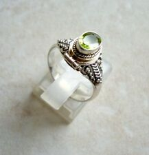 Ring mit Peridot, 925er Silber, Gr. 17,5 - Olivin - Giftring