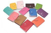 Split Leather Business Case Wallet ID Credit Card Holder Purse for 24 Cards