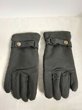Dents Mens Exmoor Waxed Cotton Gloves Olive Size Small *  Excellent Condition *