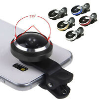 Super 235° Clip On Fish Eye Camera Lens Kits for iPhone Samsung HTC E Jh