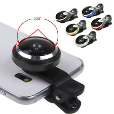 Super 235° Clip On Fish Eye Camera Lens Kits for iPhone Samsung HTC TO