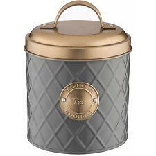 Typhoon Copper Grey Stainless Steel Tea Canister Lid Kitchen Storage Container