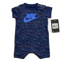 Nike futura Mameluco Infantil Traje Shorts Mono De una pieza de 3M Azul