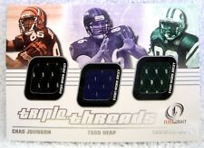 Chad Johnson/Todd Heap/Santana Moss 2001 Fleer Legacy Triple Threads 3 Patch