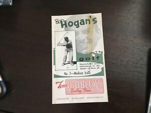 Ben Hogan's Vintage 1st Edition Golf Instruction Booklet #7 Medium Irons