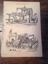 Brick Machines   -  Clayton's, Bradley & Craven's - antique print  Circa 1880