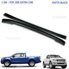 2dr Black Abs Roof Rack Bar Fits Mazda Bt-50 Ford Ranger Mk2 Wildtrak 2012 2017