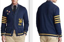 Size XL Polo Ralph Lauren Men's Varsity Letterman Cardigan style: 710787155001