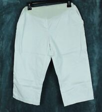 Motherhood Capri Maternity Size M White Full Panel Stretch Casual Side Pockets