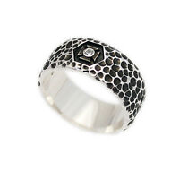 HOLLOW CHEESE BAND RING 925 STERLING SILVER MEN/'S WOMEN/'S BIKER JEWELRY won-r042