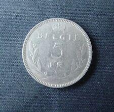 Munt België/Belgique: 5 FRANCS 1936 Pos. A (vlaamse legende)