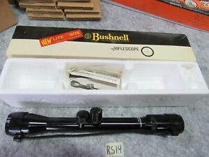 Bushnell vintage Hunting Rifle Scope Light Sight Scope Chief NOS 4X (RS14)