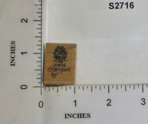 Stampendous 1997 Wood Block Rubber Stamp Hand Stamped By Flower Bouquet AA052