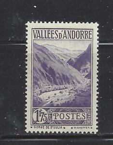 ANDORRA (FRENCH ADM) - 54 - MH - 1933 - GORGE OF ST JULIA