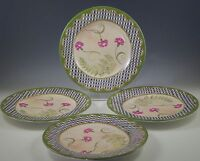 TRACY PORTER CERAMIC ORCHARD, SET OF 4 SALAD PLATES, SHABBY