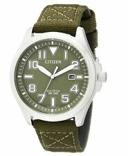 AUTHENTIC CITIZEN MILITARY MEN'S ECO-DRIVE WATCH AW1410-16X