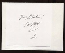 Bill O'Reilly Signed Book Page Cut Autographed Signature