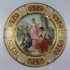 ROYAL VIENNA style LOT 6 Plate Porcelain Signed Wagner RARE Gold Gilt BEAUTIFUL!
