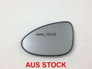 LEFT PASSENGER SIDE HOLDEN BARINA 2011 ONWARD  MIRROR GLASS WITH BACK PLATE