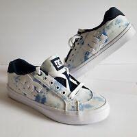 DC Shoes Womens Chelsea Plus TX SE Washed Indigo Colorway Skate Shoes Size 8.5