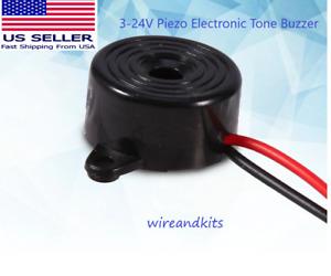 2x Piezo Electronic Buzzer 3-24VDC 12V Effect Tone Alarm Arduino or Raspberry Pi