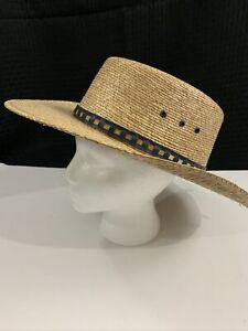 Vintage Sombrero Legitimo Sahuayo Mexico Straw Hat Sun garden woven wide brim