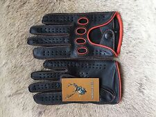 Autofahrer Lederhandschuhe Herren Fahren Top Schwarz Handschuhe